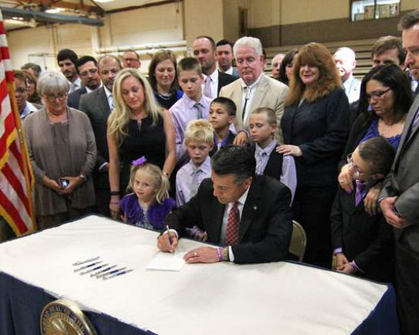 Nevada State Anti-bullying Law Signing